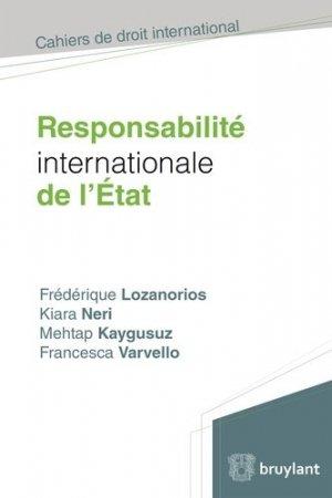 Responsabilité internationale de l'Etat - bruylant - 9782802749127 -