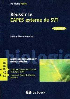 Réussir le CAPES externe de SVT - de boeck superieur - 9782804101060 -