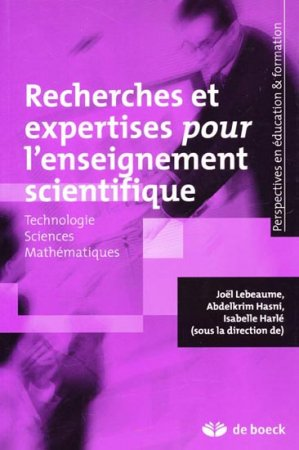Recherches et expertises pour l'enseignement scientifique - de boeck superieur - 9782804165925 -