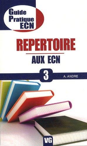 Répertoire aux ECN - vernazobres grego - 9782818301685 -