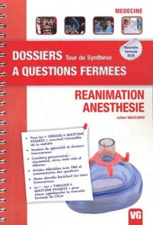 Réanimation - Anesthésie - vernazobres grego - 9782818303870 -