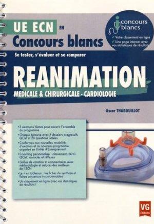 Réanimation médicale et chirurgicale, anesthésie - vernazobres grego - 9782818314722 -
