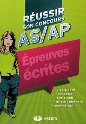 Réussir son concours AS/AP Épreuves écrites - estem - 9782843714719 -