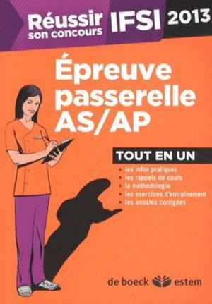 Réussir son concours IFSI 2013 Épreuve passerelle AS / AP - estem - 9782843715884 -