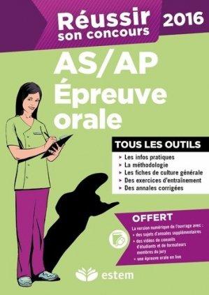 Réussir son concours AS/AP - Epreuve orale 2016 - de boeck superieur - 9782843718144 -