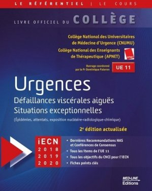 Référentiel Collège d'Urgences - med-line - 9782846782180 -