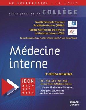 Référentiel collège de Médecine interne - med-line - 9782846782517 -