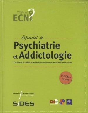 Référentiel de Psychiatrie et Addictologie - presses universitaires francois rabelais - 9782869064195 -