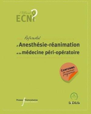 Référentiel d'Anesthésie-réanimation et de médecine péri-opératoire - presses universitaires francois rabelais - 9782869067561 -