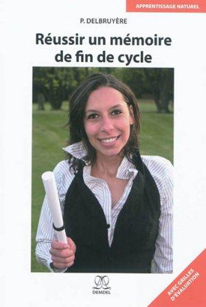 Réussir un mémoire de fin de cycle - demdel - 9782875490124 -