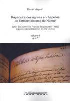 Répertoire des églises et chapelles de l'ancien diocèse de Namur - namuroises - 9782875510709 -
