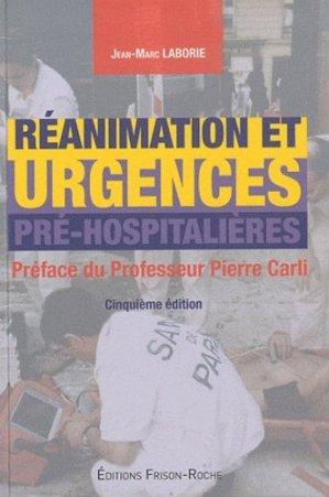 Réanimation et urgences pré-hospitalières - frison roche - 9782876715394 -