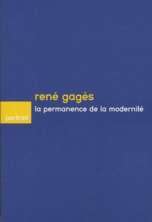 René Gagès, la permanence de la modernité - caue de haute-savoie - 9782910618360 -