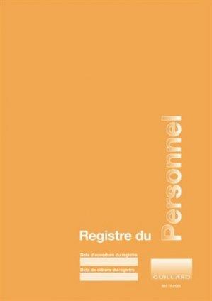 Registre du personnel - guillard - 9782910833275 -