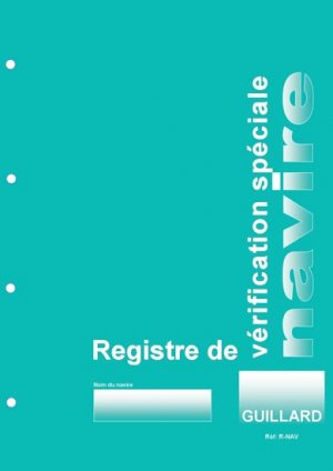 Registre de vérification spéciale Navire - guillard - 9782910833497 -