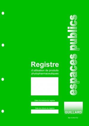 Registre d'utilisation de produits phytopharmaceutiques des espaces publics - guillard - 9782910833657 -