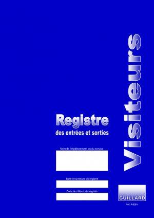 Registre des entrées et sorties de visiteurs - guillard - 9782910833695 -