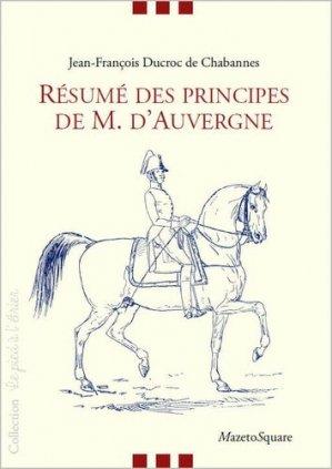 Résumé des principes de M. d'Auvergne - mazeto square - 9782919229666 -