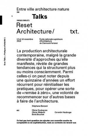 Reset Architecture - Editions deux-cent-cinq - 9782919380350 -