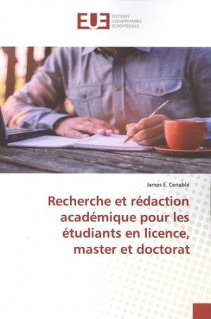Recherche et rédaction académique pour les étudiants en licence, master et doctorat - Omniscriptum - 9786139553815 -