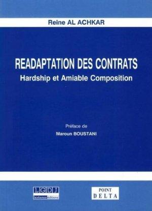 Réadaptation des contrats. Hardship et amiable composition - Al Dar alloubnanya - 9789953451220 -