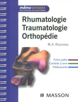 Rhumatologie Traumatologie Orthopédie - elsevier / masson - 9782294079481 -