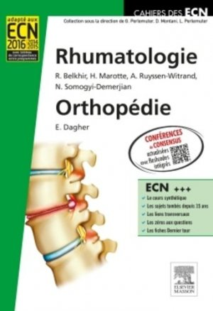 Rhumatologie Orthopédie - elsevier / masson - 9782294701801 -