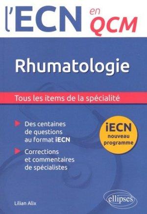 Rhumatologie - ellipses - 9782340005655 -