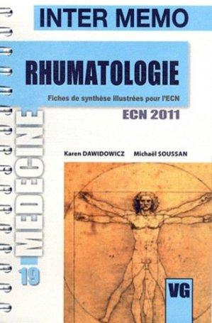 Rhumatologie - vernazobres grego - 9782818303405