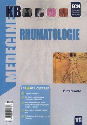 Rhumatologie - vernazobres grego - 9782818306246 -