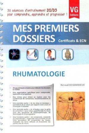 Rhumatologie - vernazobres grego - 9782818310717 -