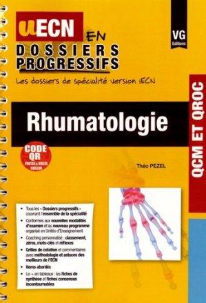 Rhumatologie - vernazobres grego - 9782818312728 -