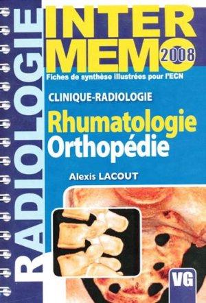 Rhumatologie Orthopédie Radiologie - vernazobres grego - 9782841367368 -