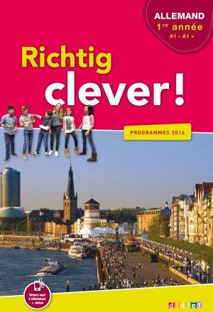 Richtig Clever 1ère Année : Livre - Didier - 9782278083442 -