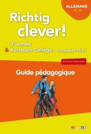 Richtig Clever 3ème Année : Guide Pédagogique - Didier - 9782278088164 -