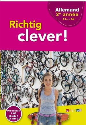 Richtig Clever 2ème Année : Coffret pour la Classe 2 CD Audio et 1 DVD - Didier - 9782278088232 -