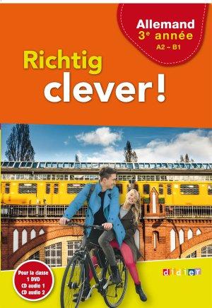Richtig Clever 3ème Année : Coffret pour la Classe 2 CD Audio et 1 DVD - Didier - 9782278088249 -