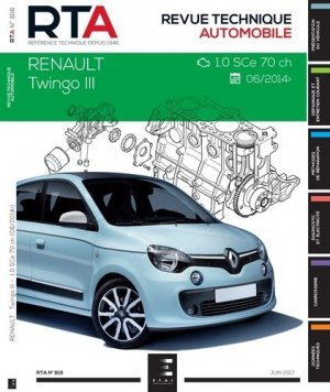 RTA Renault  Twingo III : 1.0I (71 CH) (DEPUIS 2014) - etai - editions techniques pour l'automobile et l'industrie - 9791028306113 - https://fr.calameo.com/read/005884018512581343cc0