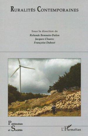 Ruralités contemporaines - l'harmattan - 9782296544987 -
