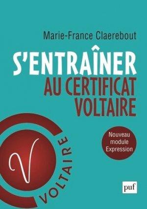 S'entraîner au Certificat Voltaire - puf - presses universitaires de france - 9782130825586 -