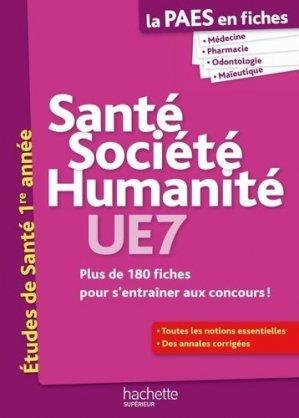 Santé Société Humanité  UE7 - hachette - 9782011458230 -