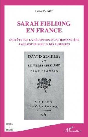 Sarah Fielding en France - l'harmattan - 9782343218243 -