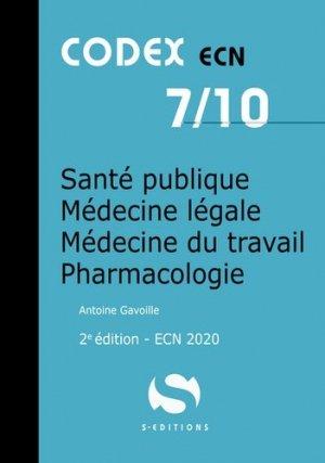 Santé publique, médecine légale, médecine du travail, pharmacologie - s editions - 9782356402103