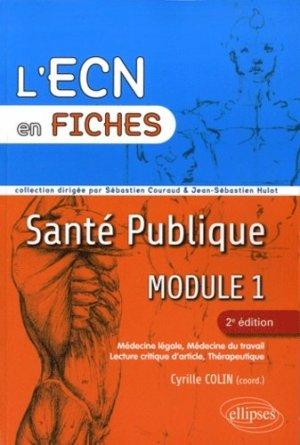 Santé publique Module 1 - ellipses - 9782729863753 -