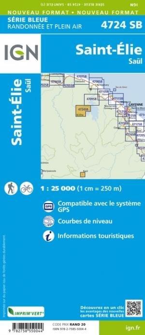 Sainte-Elie, Saul - Institut Géographique National - 9782758550044 -