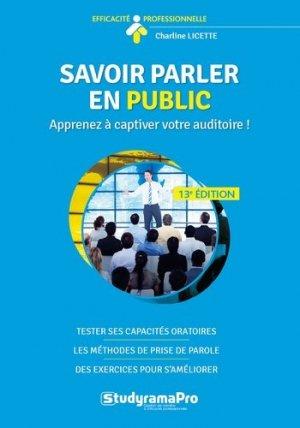 Savoir parler en public - Studyrama - 9782759041282 -