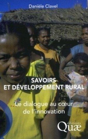 Savoirs et développement rural - quae  - 9782759209279 -