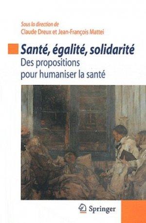 Santé, égalité, solidarité - springer - 9782817802732 -