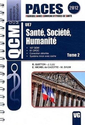 Santé, Société, Humanité  Tome 2 UE 7 - vernazobres grego - 9782818305232 - Santé, Société, Humanité,