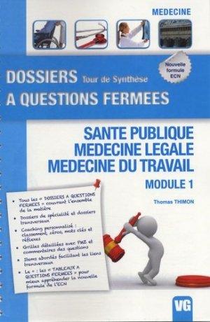 Santé publique - Médecine légale - médecine du travail - vernazobres grego - 9782818305539 -